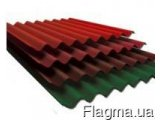 Фото 1 шифер 8-хвильовий кольоровий фарбований асбестоцементний 330106