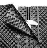 Шиповидная мембрана ТЕФОНД ПЛЮС с герметичным замком для защиты стен фундаментов, гидроизоляции, дренажа