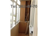 Шкаф балконный. Материал - ДСП ламинированное. С материалом, с работой.