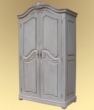 Шкаф EAP0015. Произведен в Индонезии. Материал: дерево минди. Цвет: белый. Габариты: 122х60х208