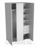 Шкаф-гардероб тройной ТО-130   венге A10465