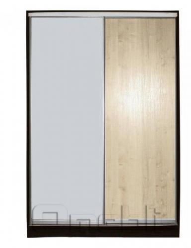 Шкаф-купе 2-х двер. №2, 100*45 б/ящ. фасад 2/7 дуб м/зеркало корпус дуб молоч. A13474