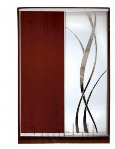 Шкаф-купе 2-х двер. №2, 100*45 б/ящ. фасад 3/8 яблоня лиана м/з корпус дуб молоч. A13468