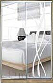 Шкаф-купе 2-х двер. №2, 100*45 б/ящ. фасад 6/9 зеркало лиана/з корпус дуб молоч. A13486