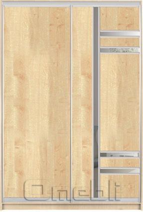 Шкаф-купе 2-х двер. №3, 100*45 б/ящ. фасад 2/34 дуб корпус дуб молоч. A15848