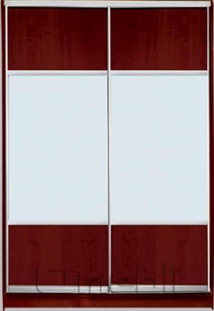 Шкаф-купе 2-х двер. №3, 100*45 б/ящ. фасад 23/23 яблоня м/зерк корпус дуб молоч. A15908
