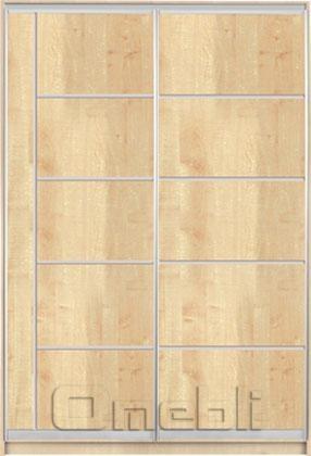 Шкаф-купе 2-х двер. №3, 100*45 б/ящ. фасад 28/25 дуб корпус дуб молоч. A15926
