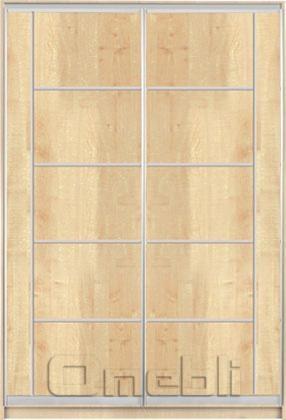 Шкаф-купе 2-х двер. №3, 100*45 б/ящ. фасад 28/41 дуб корпус дуб молоч. A15932