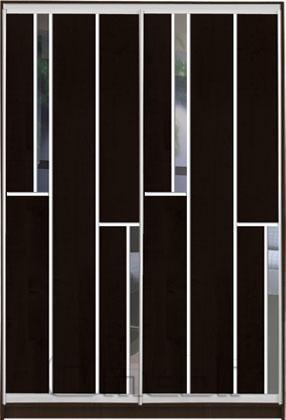 Шкаф-купе 2-х двер. №3, 100*45 б/ящ. фасад 35/35 венге зеркало корпус дуб молоч. A15950