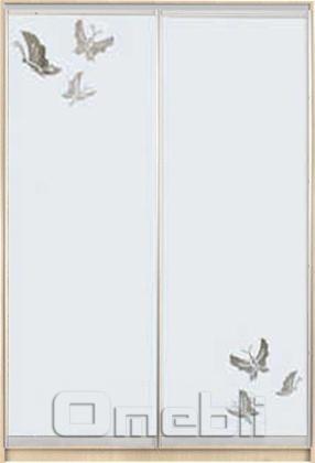 Шкаф-купе 2-х двер. №3, 100*45 б/ящ. фасад 54/55 м/бабочки корпус дуб молоч. A15980