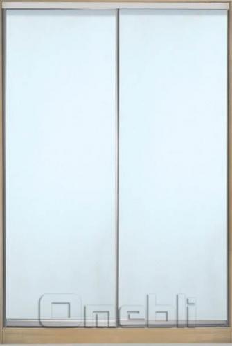 Шкаф-купе 2-х двер. №3, 100*45 б/ящ. фасад 7/7 м/зеркало корпус дуб молоч. A15854