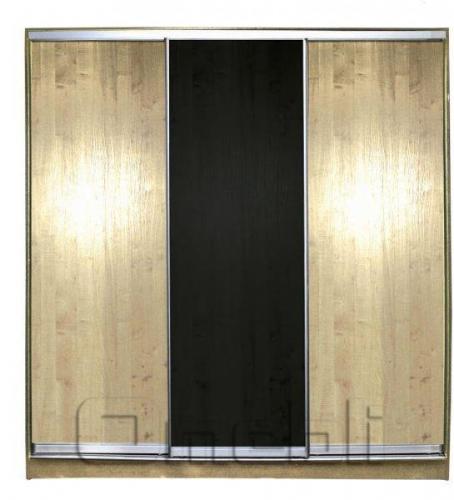 Шкаф-купе 3-х двер. №1 220*45 б/ящ. фасад 2/1/2 дуб венге дуб корпус ольха A20992