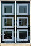 Шкаф-купе Премиум 2-х двер. №1, 100*45 фасад 67/67 зерк/графит корпус дуб молоч. A26290