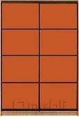 Шкаф-купе Премиум 2-х двер. №2, 100*45 фасад 101/101 оранж корпус дуб молоч. A27994