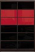 Шкаф-купе Премиум 2-х двер. №2, 100*45 фасад 103/103 черн/красн корпус дуб молоч. A28000