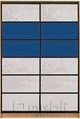 Шкаф-купе Премиум 2-х двер. №2, 100*45 фасад 105/105 син/бел корпус дуб молоч. A28018