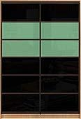 Шкаф-купе Премиум 2-х двер. №2, 100*45 фасад 106/106 чер/бирюз корпус дуб молоч. A28012