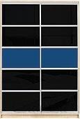 Шкаф-купе Премиум 2-х двер. №2, 100*45 фасад 109/109 черн/син корпус дуб молоч. A28030