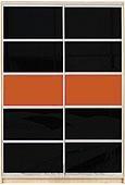 Шкаф-купе Премиум 2-х двер. №2, 100*45 фасад 110/110 черн/оранж корпус дуб молоч. A28036