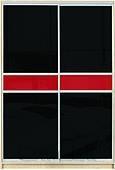 Шкаф-купе Премиум 2-х двер. №2, 100*45 фасад 111/111 черн/красн корпус дуб молоч. A28042