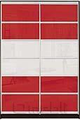 Шкаф-купе Премиум 2-х двер. №2, 100*45 фасад 112/112 красн/белый корпус дуб молоч. A28048