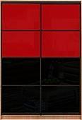 Шкаф-купе Премиум 2-х двер. №2, 100*45 фасад 119/119 черн/красн корпус дуб молоч. A28066