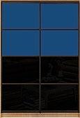 Шкаф-купе Премиум 2-х двер. №2, 100*45 фасад 120/120 черн/син корпус дуб молоч. A28072