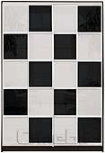 Шкаф-купе Премиум 2-х двер. №2, 100*45 фасад 123/123 черн/бел корпус дуб молоч. A28078