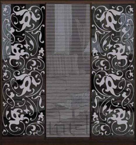 Шкаф-купе Премиум 3-х двер. №1, 220*45 фасад 69/73/69 з/графит корпус дуб молоч. A30808