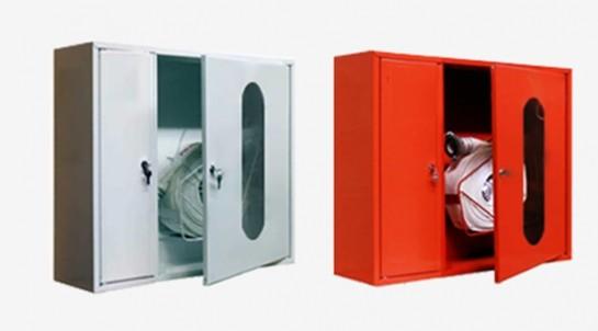 Шкаф пожарный для рукава и огнетушителя двухдверный
