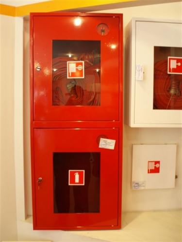 Шкаф пожарний навесной (встроенный)ШПК-320 для кран комплекта пожарного ДУ50; ДУ65 и двух огнетушителей до 9 кг.