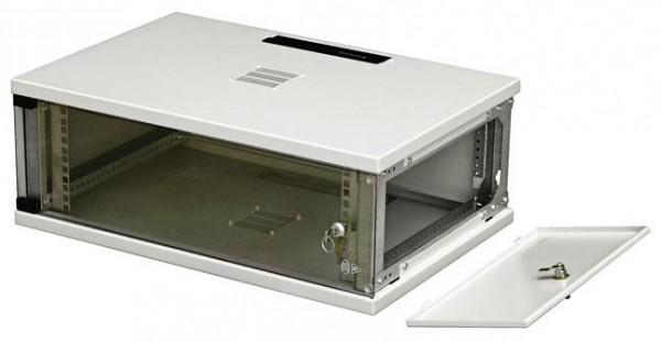 """Шкаф телекоммуникационный настенный односекционный со съемными боковыми стенками SU 19"""", 600x400, 6U."""