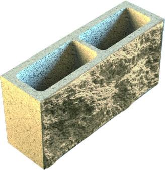 шлакоблок колотый, французский камень 390*190*120 в Крыму.
