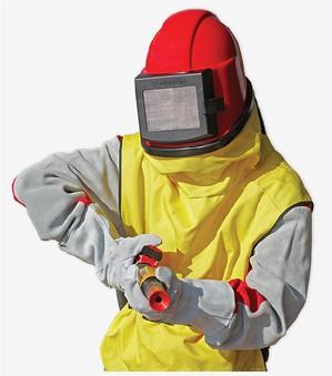 Шлем пескоструйщика средства очистки воздуха.