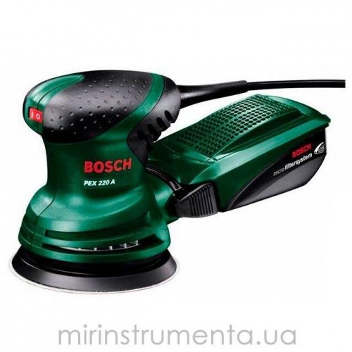 Шлифмашинка эксцентриковая Bosch PEX220A (0603378020)
