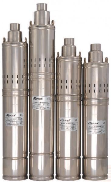 Шнековый насос для скважин и колодцев Sprut QGDа 1,5-120-1.1kW пульт
