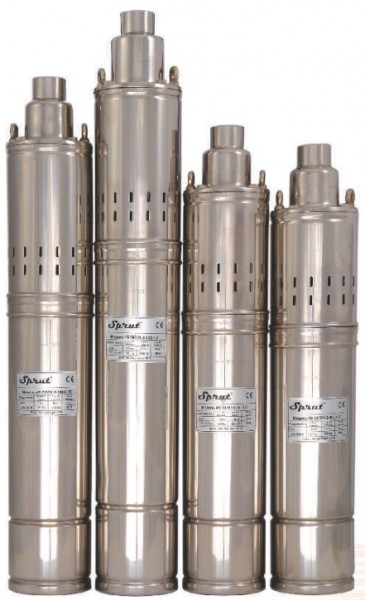 Шнековый насос для скважин и колодцев Sprut QGDа 2,5-60-0.75kW пульт