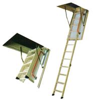 Сходи на горище 120*70, деревяні, утеплені, трьохсекційні, макс. висота приміщ. 2,8м.