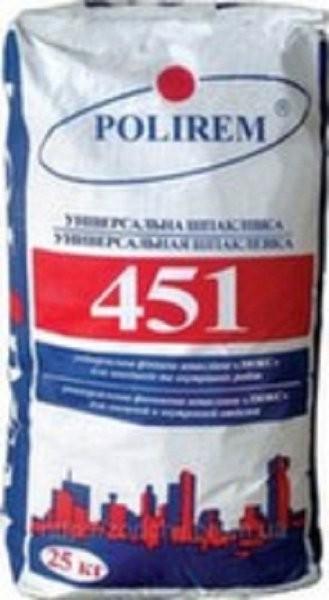 Шпаклевка фасадная финишная белая Polirem 451