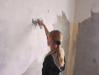 Шпаклевка под обои и под покраску, покраска потолка и стен