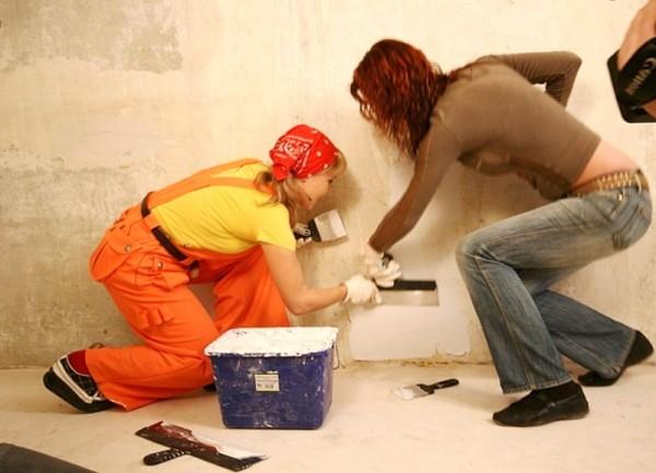 Шпаклевка стен потолка Профессионально