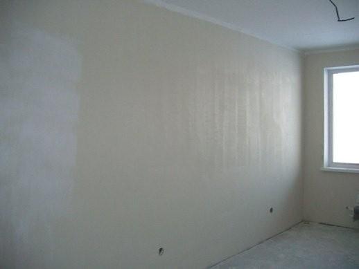 Шпатлевка стен по сетке, 3 прохода