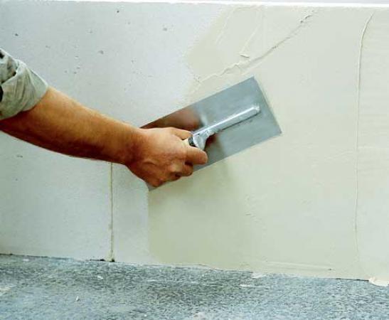 Шпатлевка стен по сетке, 3 прохода (фасад)