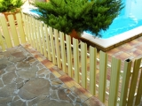 Штакетный забор из металла (ZN; RAL)