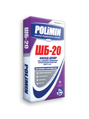 Штукатурка белая для газобетона ШБ-20 Полимин (25кг)