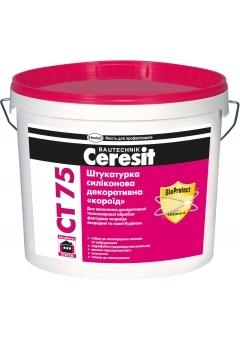 Штукатурка силиконовая декоративная «короед» Ceresit CT 75