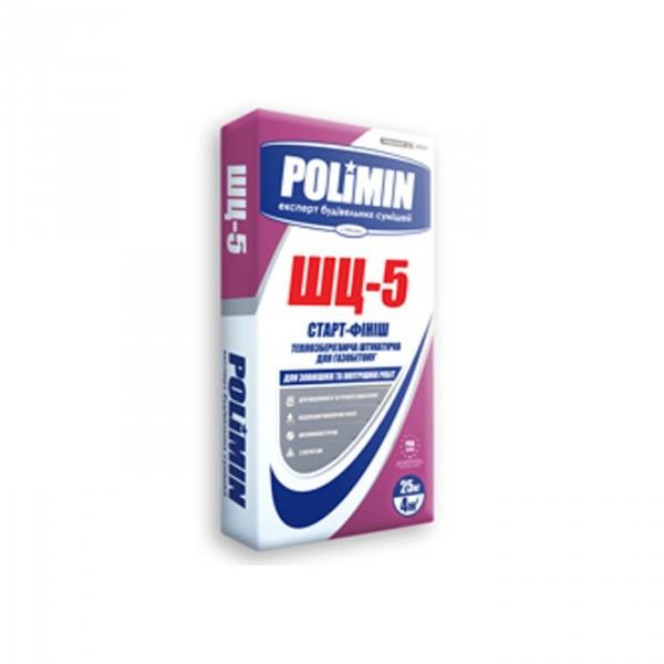 Штукатурка теплоизолирующая для газо-пенобетона ШЦ-5 Полимин (25кг)