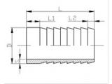 Штуцер шланговый (сварка) DIN ДУ 15 AISI 304