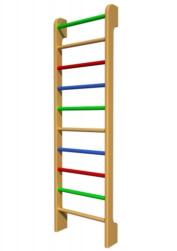 """Шведская стенка """"Мартин"""" 2400х730х180, max вес пользователя 120 кг. Ольха, натуральный цвет."""