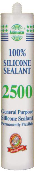 Силиконовый герметик универсальный Asmaco 2500 (Белый, Прозрачный, Черный)